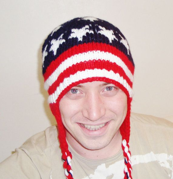 American Flag Hat by earflaphats on Etsy, $39.99