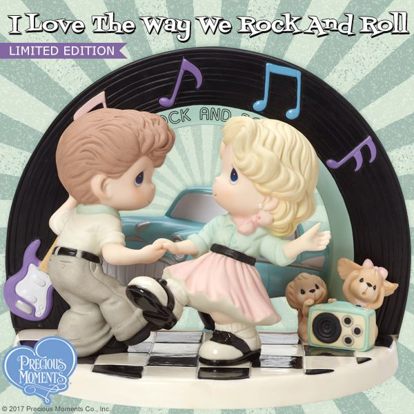 Let's dance! Send a heartwarming touch of romantic nostalgia to someone who loves to rock and roll with you. Our newest Limited Edition figurine makes a beautiful Valentine's Day gift. Hurry, it's limited to only 3,000 pieces worldwide! #PreciousMoments #LifesPreciousMoments #LimitedEdition #RockAndRoll