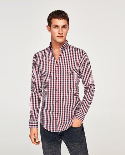 España Cuadro Hombre Camisas Vichy Zara Rebajas Camisa Cuadros 6da0w0q