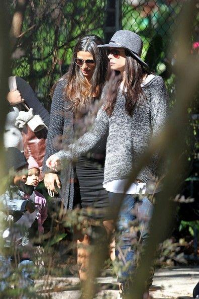 Sandra Bullock Photos - Sandra Bullock and Camila Alves Take Their Kids to the Park - Zimbio