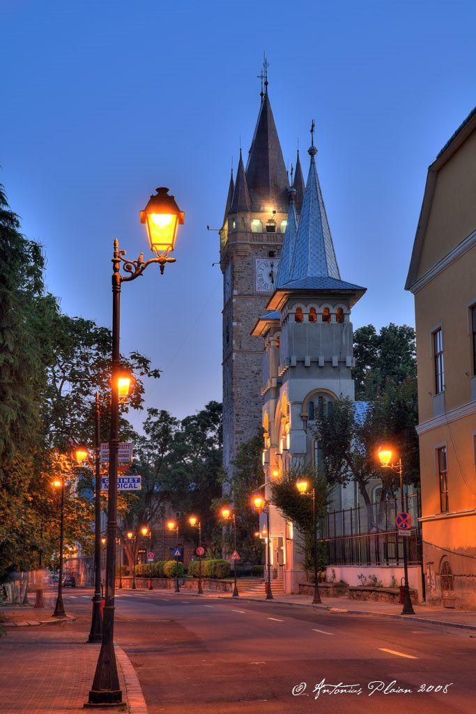 Stephan Tower & The Orthodox Church at Dawn ~ Baia Mare, Romania