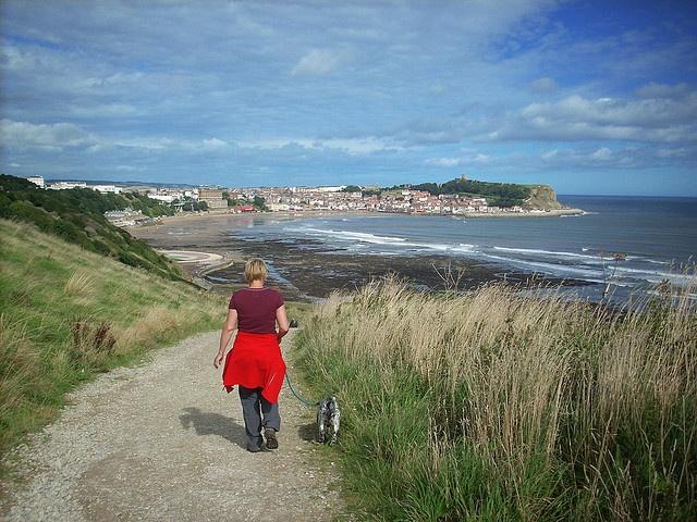 Sue and Dillon, seaside walk.