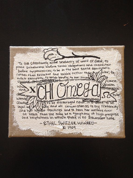 omg so adorable....Chi Omega Symphony Burlap Canvas on Etsy, $39.00