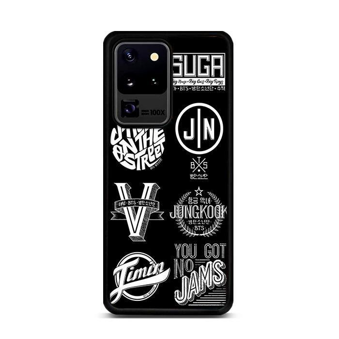 Bts Member Logo Samsung Galaxy S20 Ultra Cases Rowlingcase In 2020 Galaxy Samsung Galaxy Case