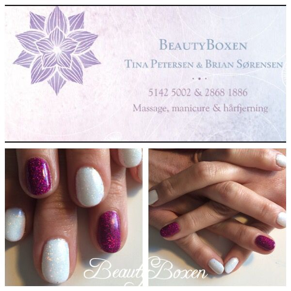 CND Shellac - Cream Puff & Rock Royalty with additives & holographic glitter (fanzis.com) ❤️