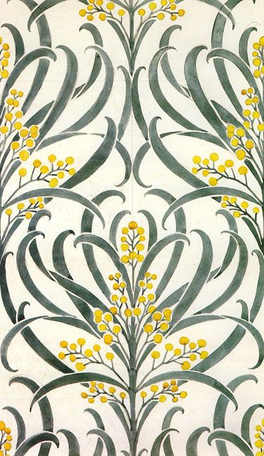 'Callum' wallpaper design by C F A Voysey, produced in 1896.