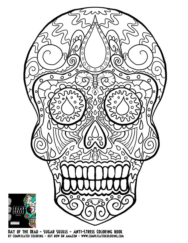 466 best day of the dead images on pinterest | sugar skulls ... - Sugar Candy Skulls Coloring Pages