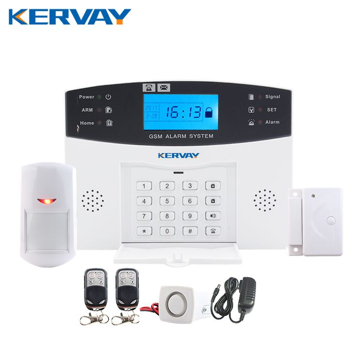 promo 433 mhz wireless alarm clock gsm digital alarm system pir detector door sensor remote control home #security #doors