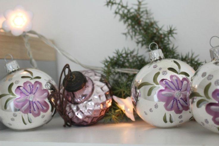 Lidt mere julepynt - i lime og lilla - Mit landliv