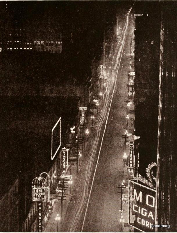 1920 Night View of Toronto Yonge Street