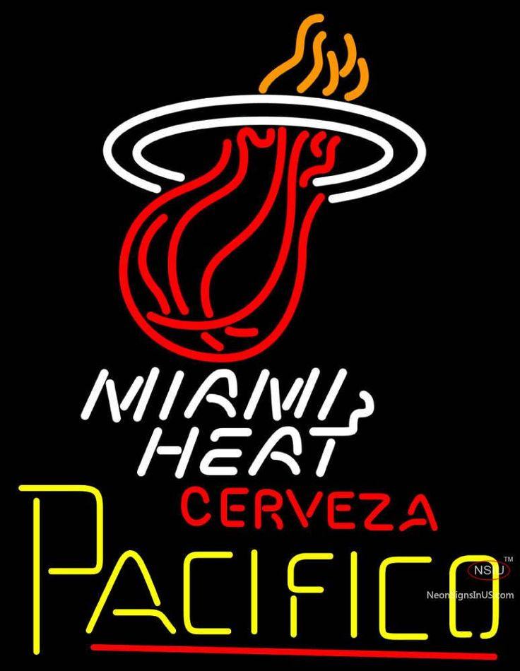 Cerveza Pacifico Miami Heat NBA Neon Beer Sign,Affordable