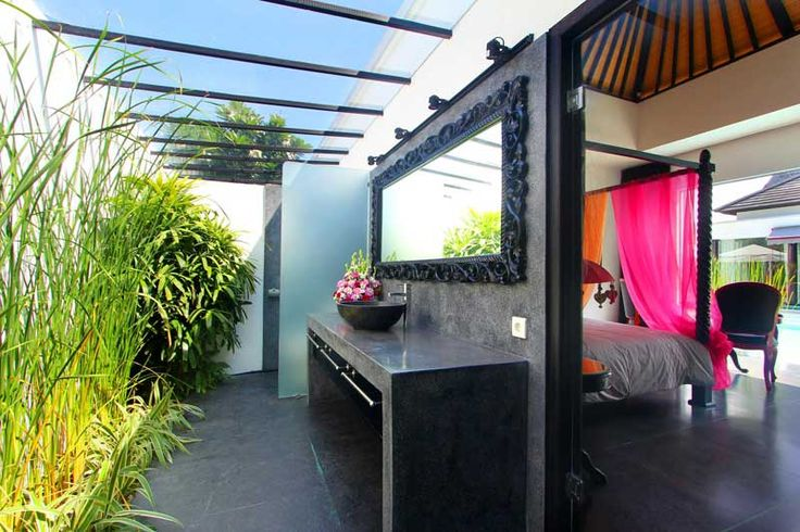 #Salledebain ensuite avec #jardin #tropical , typique #Balinais .