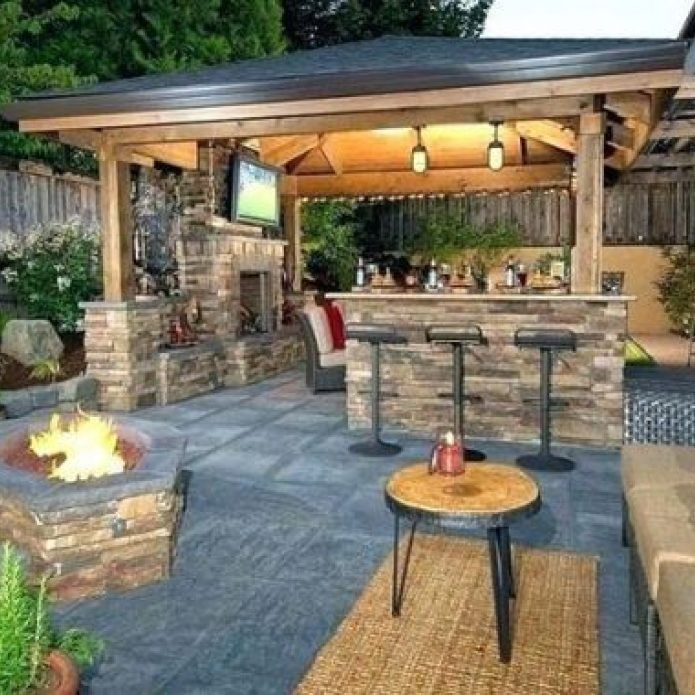 43rumored Hype On Backyard Patio Ideas On A Budget Outdoor Areas Back Yards Uncovered 71 2019 43rumored Hyp Backyard Outdoor Fireplace Designs Backyard Patio