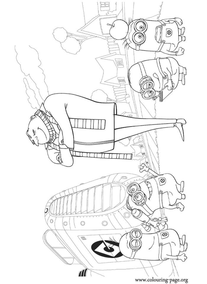 Colouring Pages Of Minions 77 Best Images On Pinterest