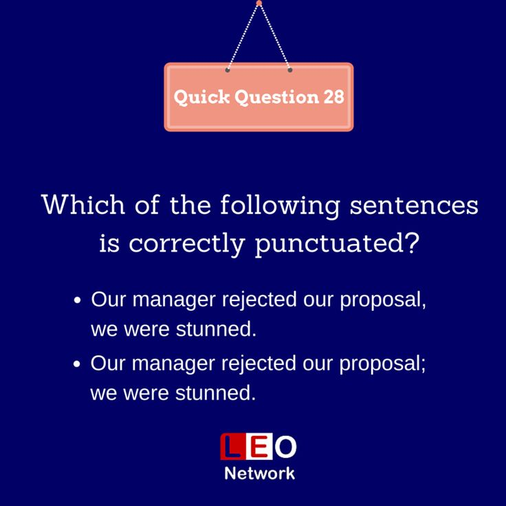 Which of the following sentences is correctly punctuated