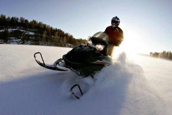 #Snowmobile safaris on lake #Saimaa -  http://bit.ly/WinterRegionSaimaa