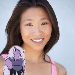 Amethyst's voice actress: Michaela Dietz