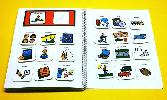 Fully Customized Autism PECS Communication Book by TheAutismShop