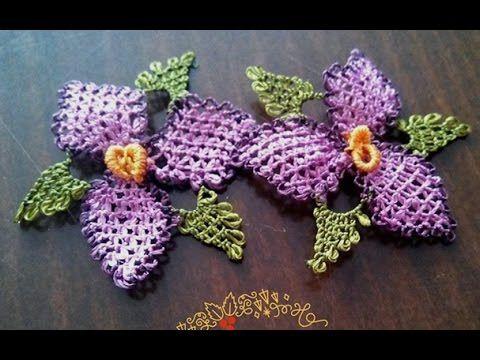 Кружевной цветочек с листьями. Ойя 2D - YouTube