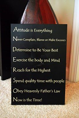 Love the idea of a Family Mission Statement created using the letters of your last name.