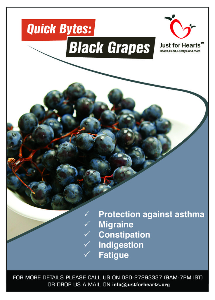 The high content of vitamins and minerals in black grapes are responsible for their many health benefits.