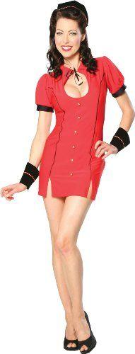 Cinema Secrets Women's Bell Hop Bettie Costume Medium Red Cinema Secrets
