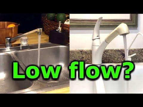 How To Fix Low Water Pressure In Kitchen Or Bathroom Faucet Sink Low Flow Moen Delta Kohler Youtube Low Water Pressure Bathroom Faucets Faucet