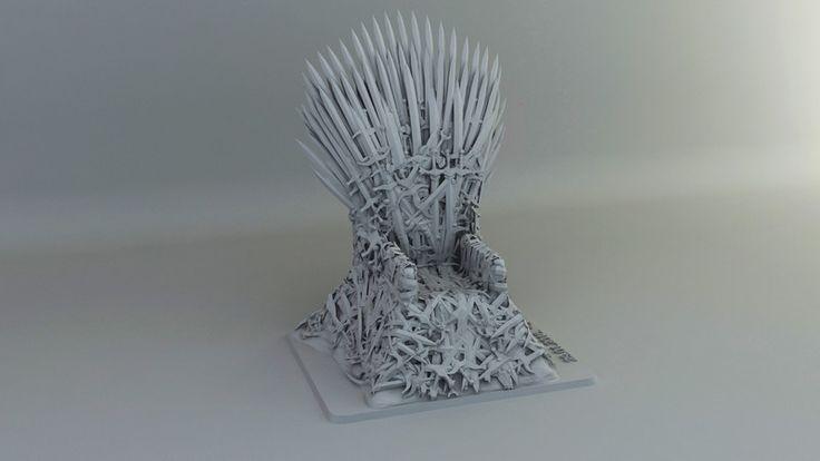 Iron Throne (3D Printed)