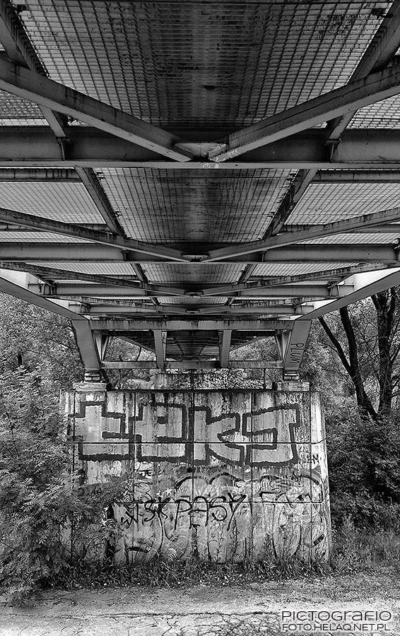 Pictografio: Under the green footbridge - in monochrome