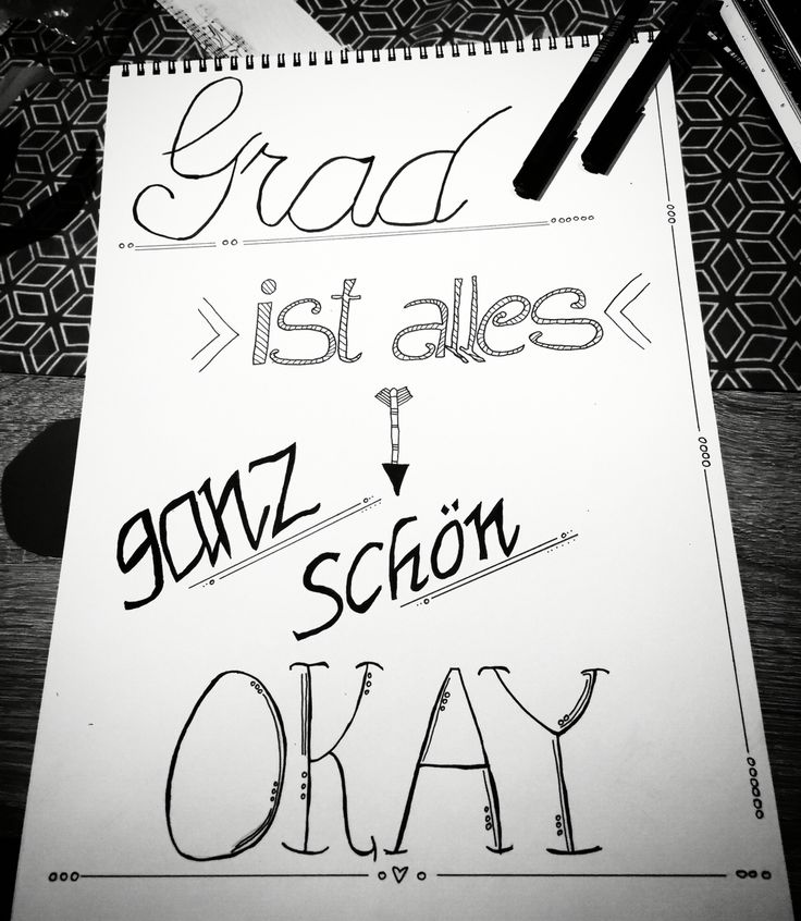 #handlettering #spruch