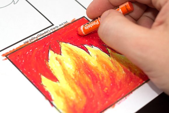 Fun and quick how to blend with oil pastels tutorial for kids! Watch the short video, and download the free printable activity.
