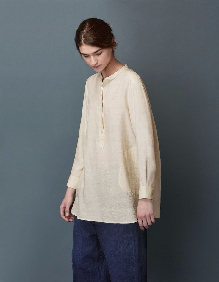 SILK KHADI LONG SHIRT (Toast)
