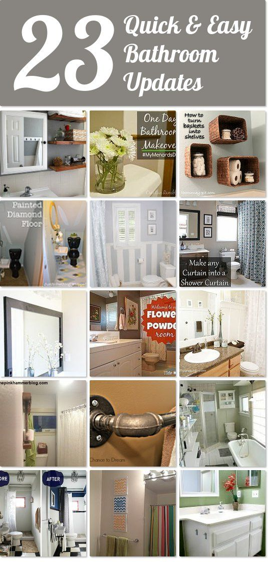 Best 25+ Easy Bathroom Updates Ideas On Pinterest | Bathroom Mirrors,  Painting A Mirror And Framed Bathroom Mirrors