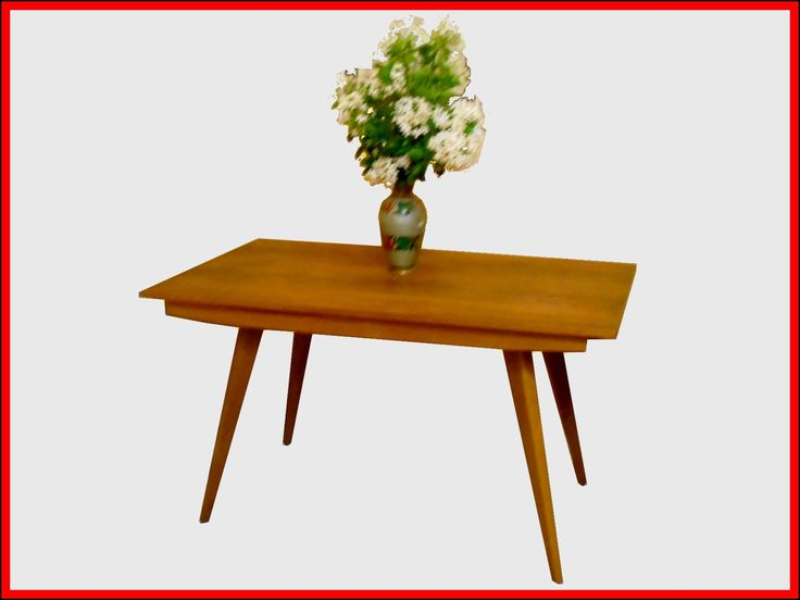 Table de repas avec 2 allonges design style scandinave for Designer scandinave annees 50