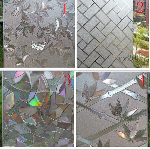 Glass Window Film Decorative Home Decor 3D Laser Static Cling Film45/60/cm~18@