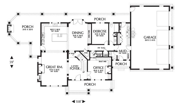 Craftsman Style House Plan 4 Beds 4 5 Baths 3959 Sq Ft Plan 48 250 Craftsman Style House Plans How To Plan