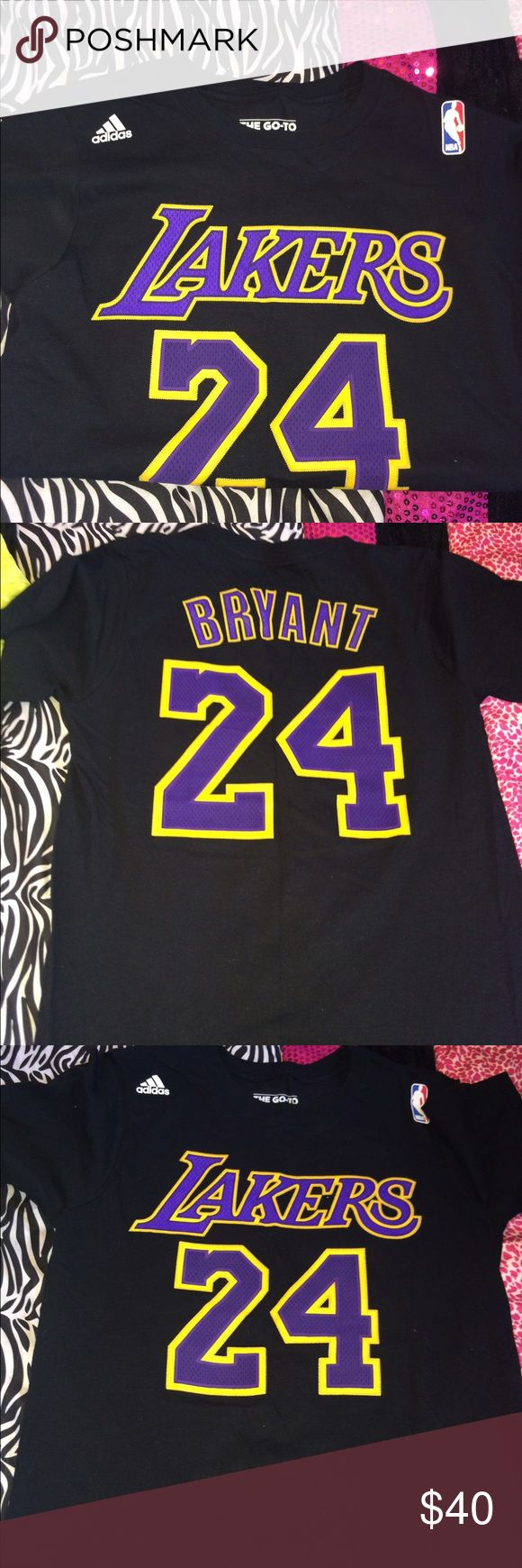 AUTH Lakers t shirt Lakers t shirt with 24 Bryant on the back! Size small! Only worn once for a game!  adidas Tops Tees - Short Sleeve