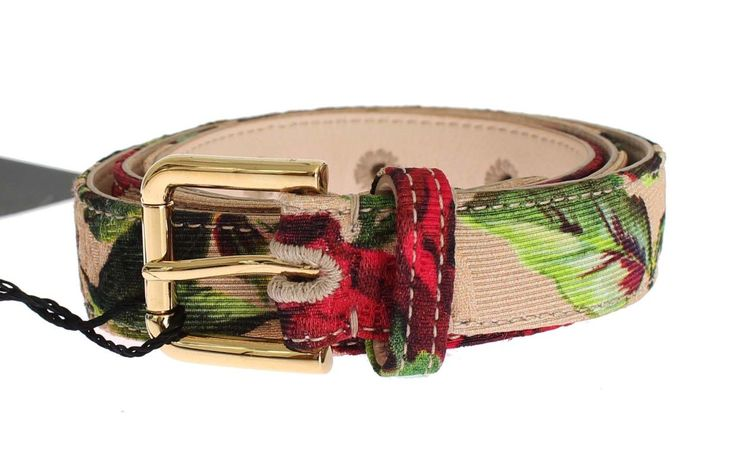 Dolce   Gabbana Absolutely stunning, Authentic, brand new with tags Dolce   Gabbana  belt. Model  Waist belt Color  Multicolor Roses print, gold metal ... 20080558e0