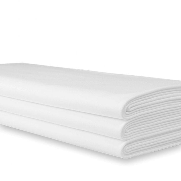 Tafellaken wit damast, 250x140 cm. (8001)