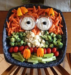 owl shaped veggies - Google Search