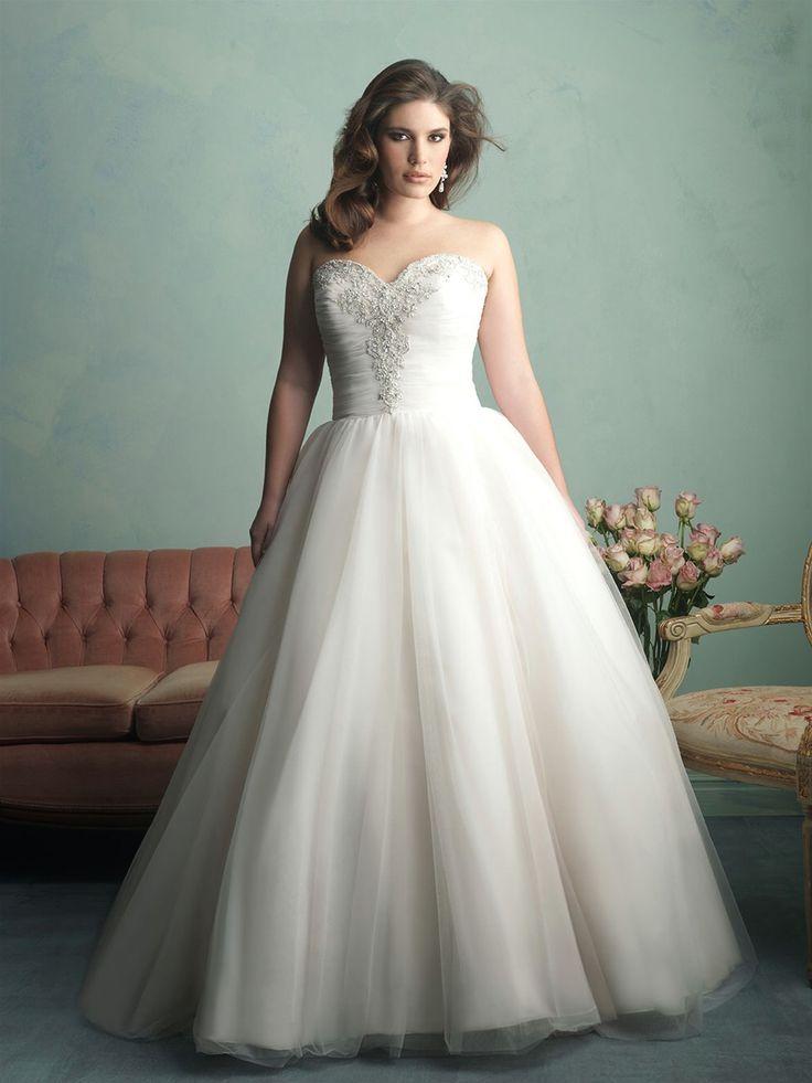 Allure Wedding Dresses   Style W341  Plus Size  60 best Wedding Dresses For The Curvy Bride  images on Pinterest  . Plus Size Wedding Reception Dresses For The Bride. Home Design Ideas