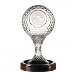 "Master Collection - 8"" Golf Ball Trophy - Galway Crystal €399"