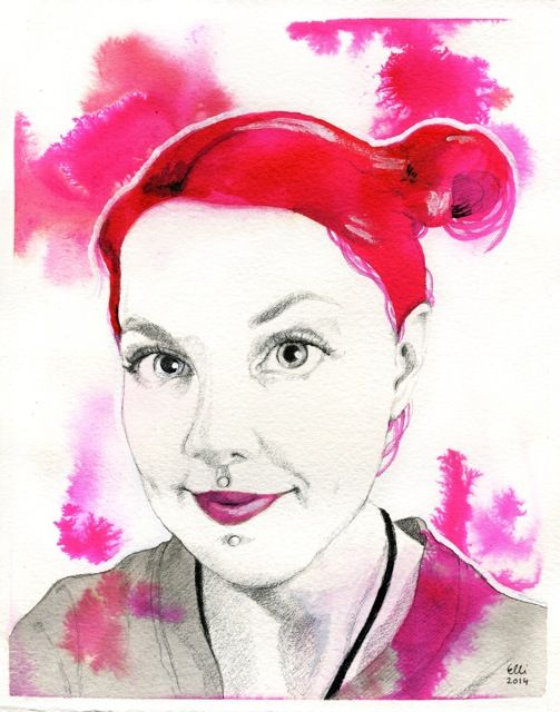 pink_portrait_painting_ellimaanpaa_2014