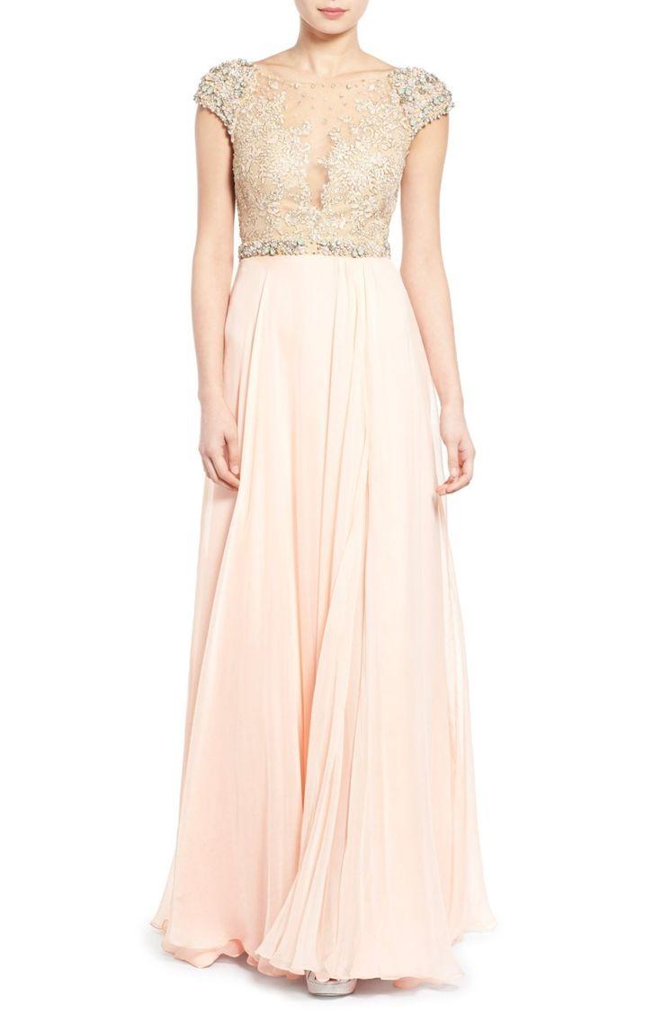 Mac Duggal bridesmaid dress: http://www.stylemepretty.com/2016/02/22/taylor-swift-maid-of-honor-dress-britany-maack/