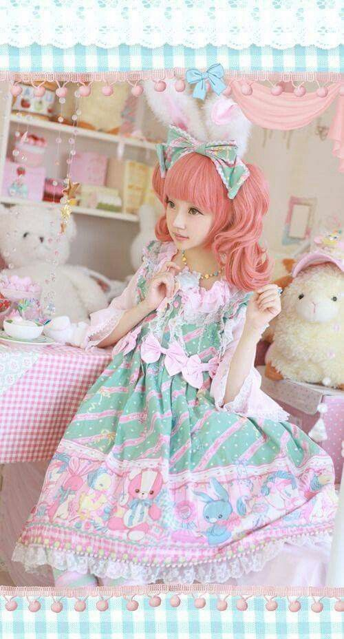 #Cute #Kawaii #Lolita #LolitaFashion #SweetLolita #LolitaMode #LolitaStyle #JapaneseMode #Girl #Pink #Dress