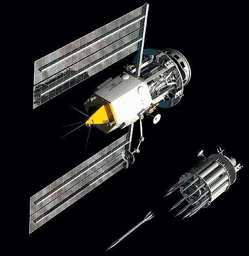 Project Thor: applied the concept of kinetic bombardment to a global first-strike capable system. The weapon relied on 1'x20' tungsten carbide cylinders that could be forcibly de-orbited with pinpoint precision. Traveling at over 10 times the speed of sound, the kinetic energy released on impact would be equivalent to a small nuke and be capable of destroying bunkers far underground.