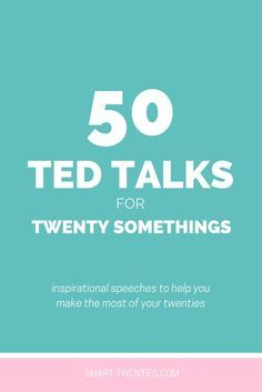 50 TED Talks for Twenty Somethings  Want to travel the world and get your dream job? We can help http://recruitingforgood.com/