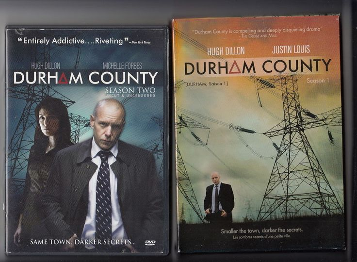 Region 1 Lot of 2  DVD Sets Durham County Season 1 &  2  One & Two MINT