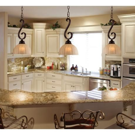 Ferro 8 wide iron scroll mini pendant light dream kitchens kitchen islands and kitchen ideas - Mini light pendant for kitchen island ...