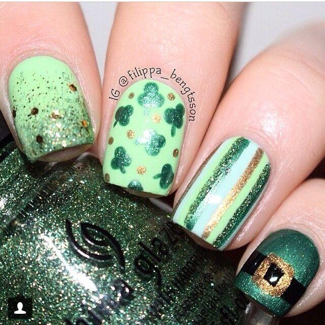 Mejores 54 imágenes de Holiday Nail Art Inspirations en Pinterest ...